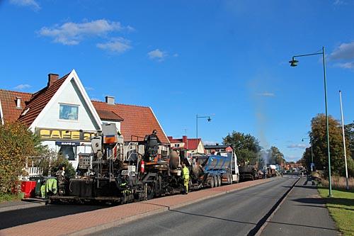 Beläggningsarbete genom Tyringe
