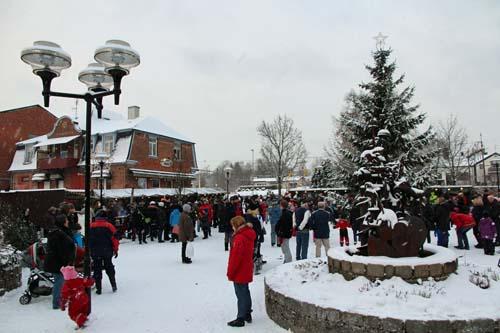 Julmarknaden den 2 december i Tyringe