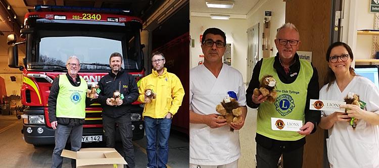 Lions Club Tyringe donerar gosedjur