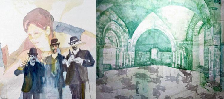 Magnus Åkesson akvareller, Foto Monica Knös, Tyringe